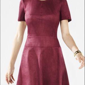 BCBG Maxazria Darra Suede A-Line Dress